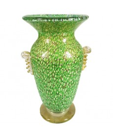 Glass Vase with murrina design