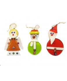 Lot of three christmas ornaments